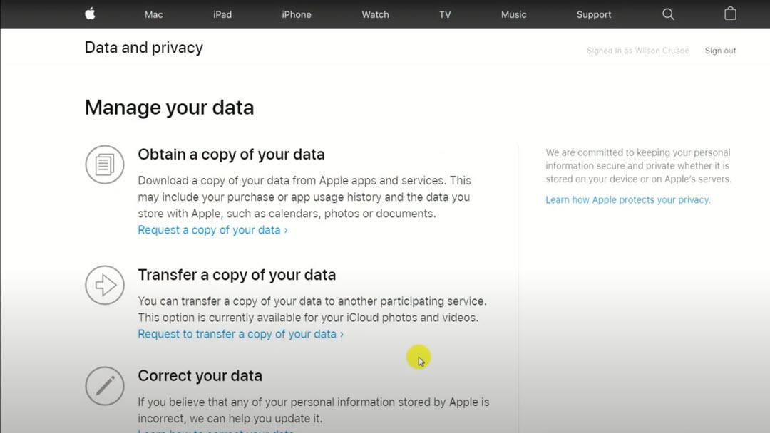 Image displaying option to transfer data
