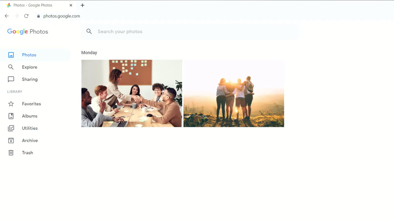 icloud photos showing in google photos app