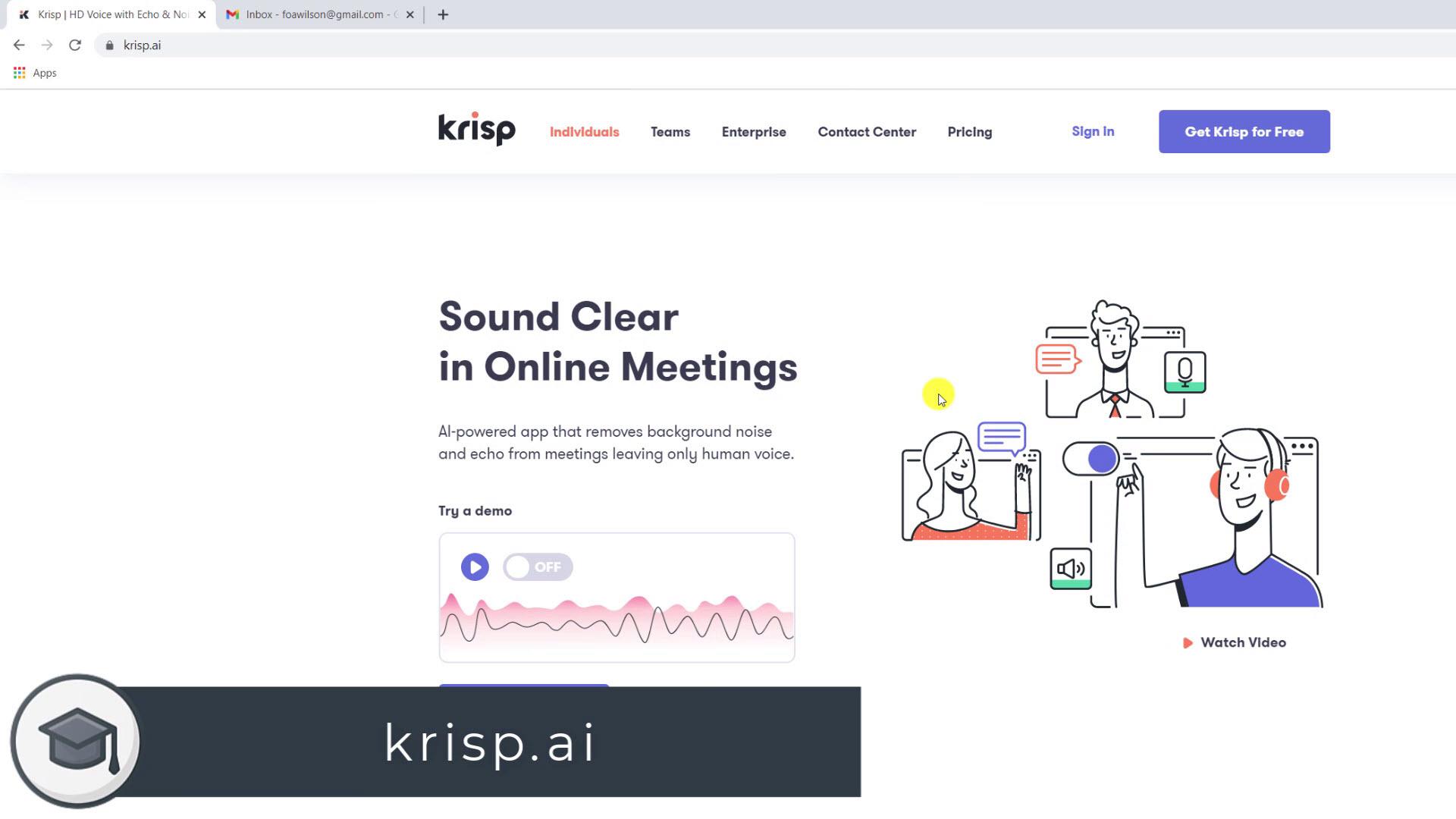 Download Krisp from krisp.ai