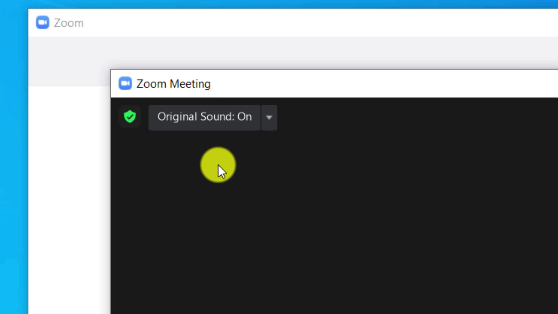 Turn on Original Sound in a Zoom Meeting