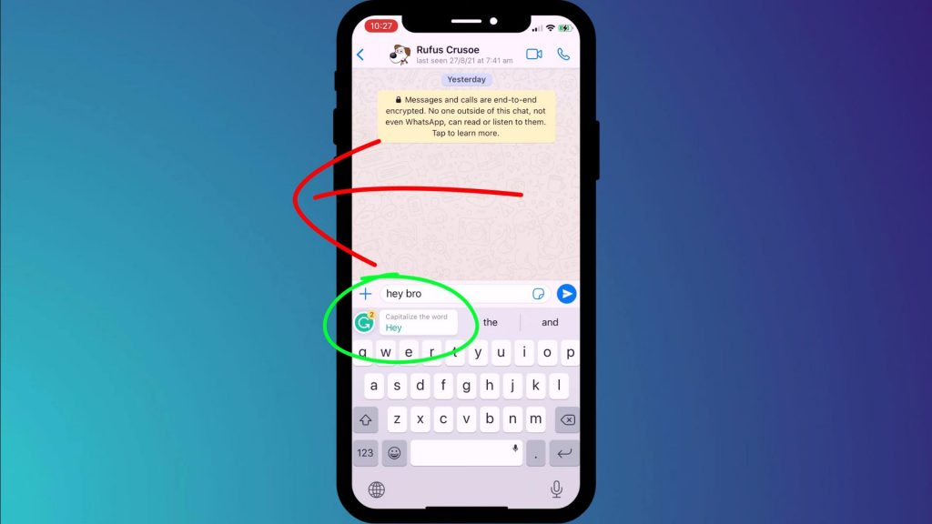Grammarly mobile editing feature